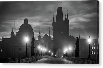 Cupola Canvas Print - Charles Bridge by Marcel Rebro