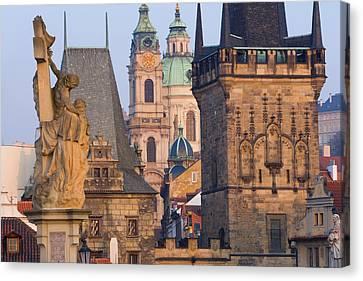 Charles Bridge, Prague, Czech Republic Canvas Print by Peter Adams