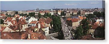 Charles Bridge Prague Czechoslovakia Canvas Print by Panoramic Images