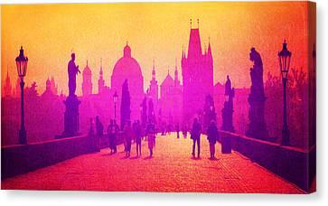 Charles Bridge Prague Canvas Print by MB Dallocchio