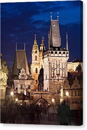 Charles Bridge Tower / Prague Canvas Print by Barry O Carroll