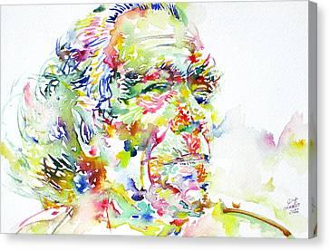 Charles Bukowski Portrait.1 Canvas Print