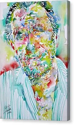 Charles Bukowski Portrait.2 Canvas Print