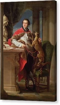 Full-length Portrait Canvas Print - Charles Compton, 7th Earl by Pompeo Girolamo Batoni