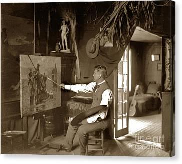 Charles Dickman Artist Monterey California Circa 1907 Canvas Print by California Views Mr Pat Hathaway Archives