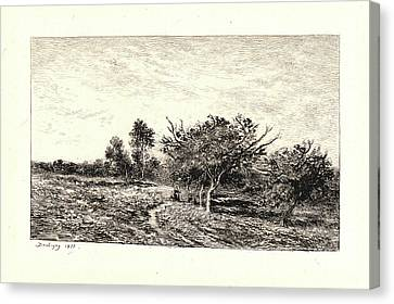 Apple Tree Canvas Print - Charles François Daubigny French, 1817 - 1878. Apple Trees by Litz Collection