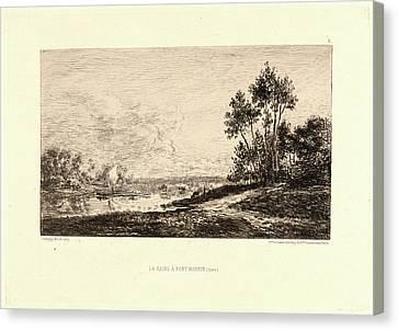 Charles François Daubigny French, 1817 - 1878. La Seine à Canvas Print by Litz Collection