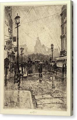 Charles Frederick William Mielatz, Rainy Day Canvas Print by Quint Lox