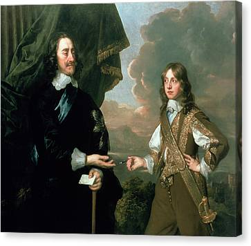 Charles I And James, Duke Of York Canvas Print by Sir Peter Lely