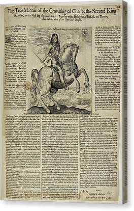 Charles II Canvas Print by British Library