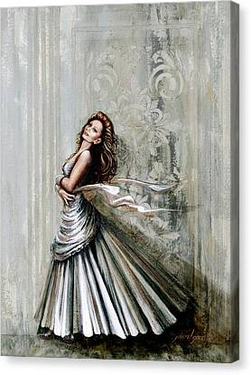 Charles James Swan Gown Canvas Print by Joan Garcia