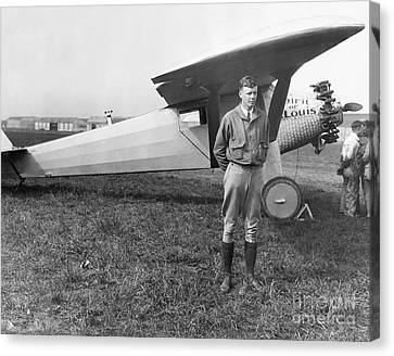 Charles Lindbergh Canvas Print by MMG Archives