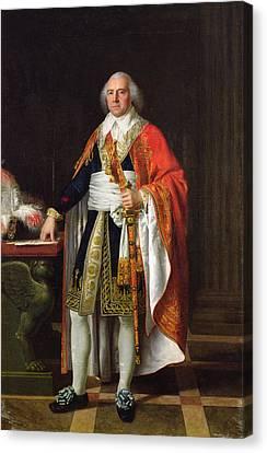 Full-length Portrait Canvas Print - Charles Louis Francois Letourneur 1751-1817 1796 Oil On Canvas by Jean Baptiste Francois Desoria