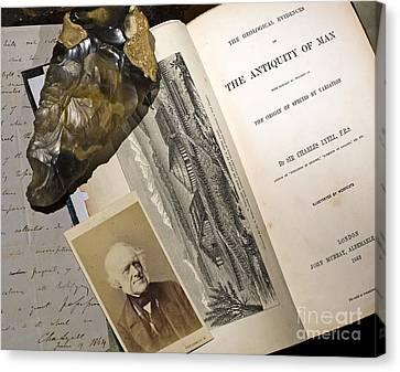 Charles Lyells Antiquity Of Man 1863 Canvas Print by Paul D Stewart