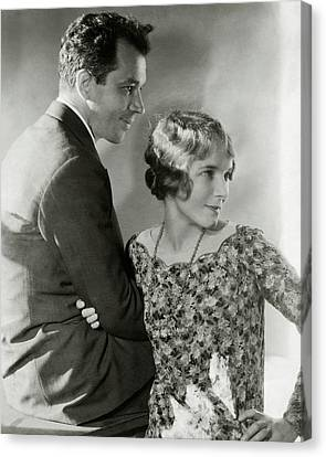 Charles Macarthur And Helen Hayes Canvas Print