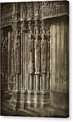Charles Nègre, Chartres Cathedral Canvas Print by Quint Lox