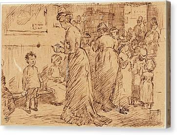 Charles Samuel Keene, British 1823-1891 Canvas Print