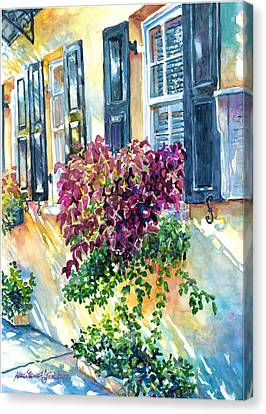 City Scape Canvas Print - Charleston Bouquet by Alice Grimsley