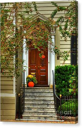 Panel Door Canvas Print - Charleston Charm 4 by Mel Steinhauer