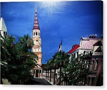 Charleston Church Street  Canvas Print