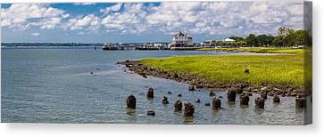 Canvas Print featuring the photograph Charleston Harbor by Sennie Pierson