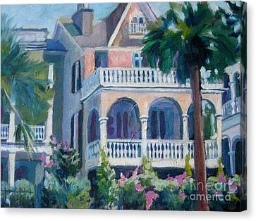 Charleston Historic Homes Canvas Print