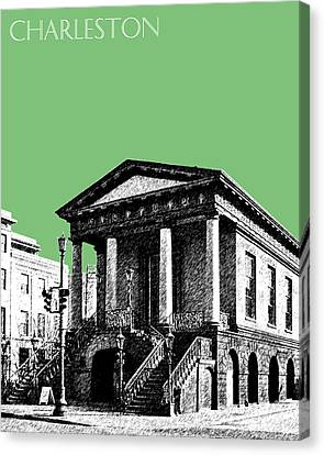 Charleston Market Building - Apple Canvas Print by DB Artist