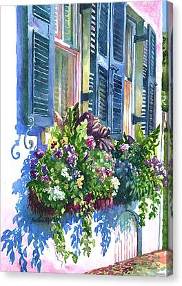 Charleston Nosegay Canvas Print by Alice Grimsley