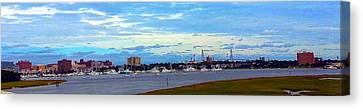 Canvas Print featuring the photograph Charleston Sc City View by Joetta Beauford