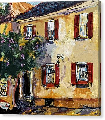 Charleston South Carolina Yellow House On Chalmers Street Canvas Print by Ginette Callaway