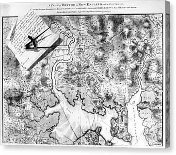 Charlestown: Map, 1776 Canvas Print