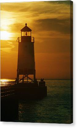 Charlevois Sunset Canvas Print