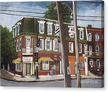 Charlevoix And Mullins Pointe St. Charles Canvas Print by Reb Frost