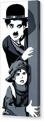 Charlie And The Kid Canvas Print
