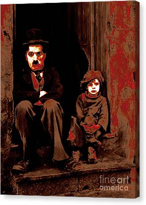 Charlie Chaplin 20130212-2 Canvas Print by Wingsdomain Art and Photography