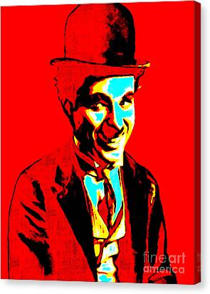 Charlie Chaplin 20130212 Canvas Print by Wingsdomain Art and Photography