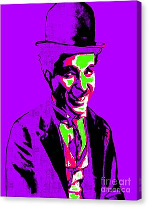 Charlie Chaplin 20130212m78 Canvas Print by Wingsdomain Art and Photography