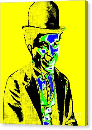 Charlie Chaplin 20130212p60 Canvas Print by Wingsdomain Art and Photography