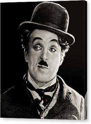 Charlie Chaplin Canvas Print by Maciek Froncisz