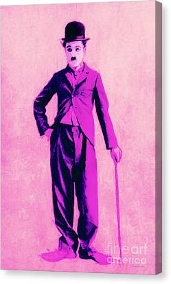 Charlie Chaplin The Tramp 20130216 Canvas Print by Wingsdomain Art and Photography