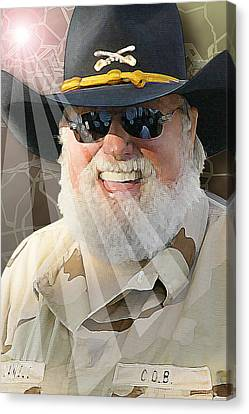 Canvas Print featuring the digital art Charlie Daniels by Don Olea