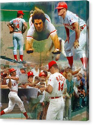 Charlie Hustle A Collage Canvas Print by John Farr