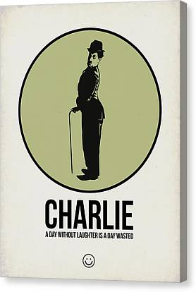 Charlie Poster 1 Canvas Print by Naxart Studio