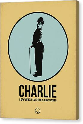 Charlie Poster 2 Canvas Print by Naxart Studio