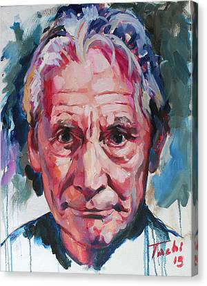 Charlie Watts Canvas Print by Tachi Pintor