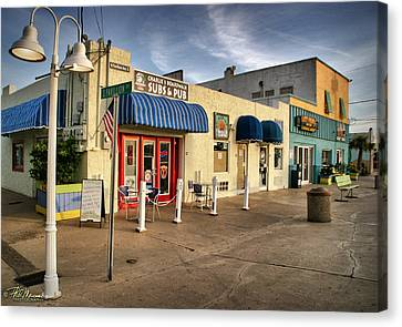 Charlie's Boardwalk Canvas Print by Phil Mancuso
