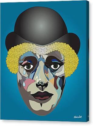 Charlie's Clown  Canvas Print