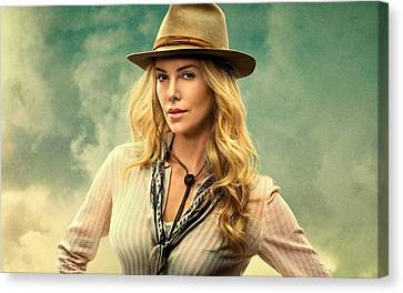 Charlize Theron A Million Ways To Die In The West  Canvas Print by Movie Poster Prints