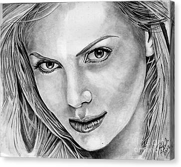 Charlize Theron Canvas Print by Bill Richards