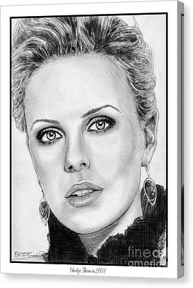 Charlize Theron In 2008 Canvas Print by J McCombie